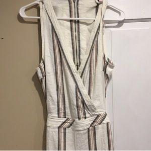 Free People linen jumpsuit sleeveless